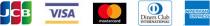JCB,VISA,Mastercard,Diners Club,AMERICAN EXPRESS